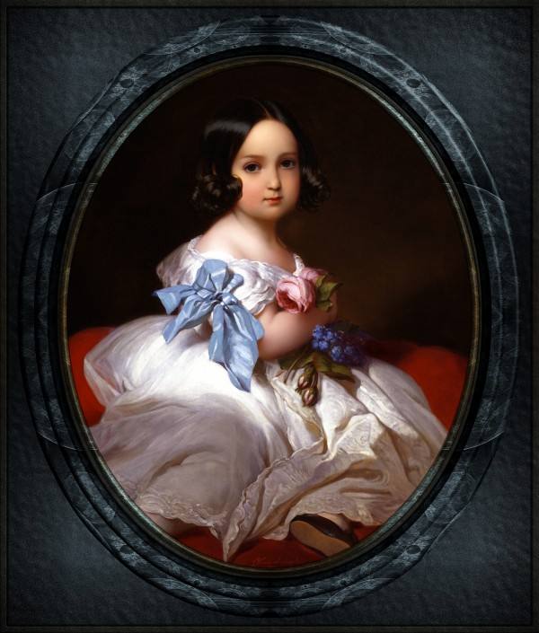 Princess Charlotte of Belgium by Franz Xaver Winterhalter Old Masters Fine Art Reproduction by xzendor7