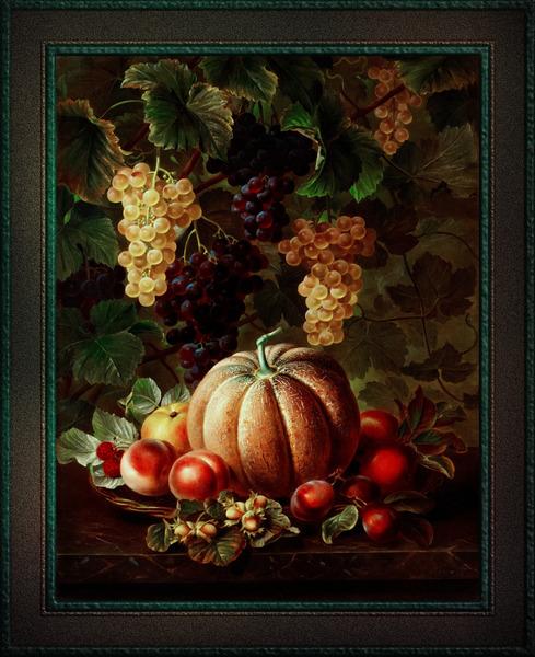 Pumpkin Platter by Johan Laurentz Jensen Classical Fine Art Xzendor7 Old Masters Reproductions by xzendor7