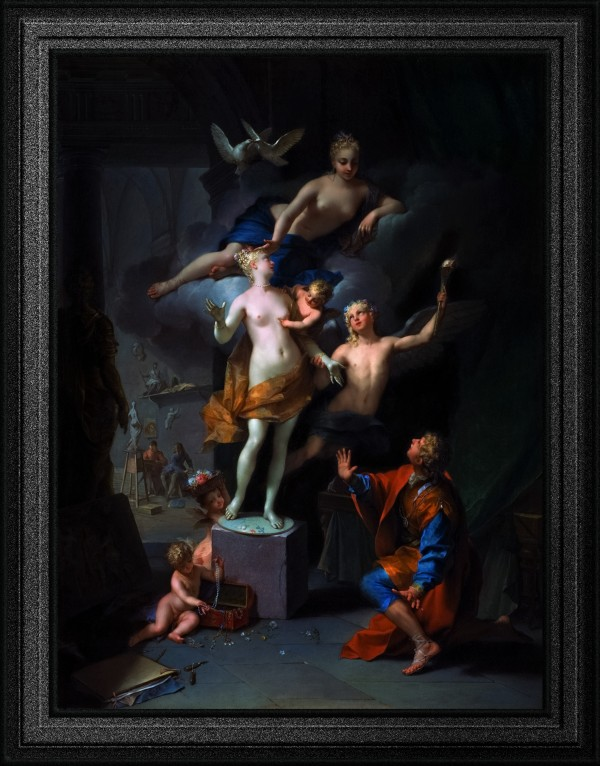 Pygmalion Adoring His Statue by Jean Raoux Classical Fine Art Old Masters Reproduction by xzendor7