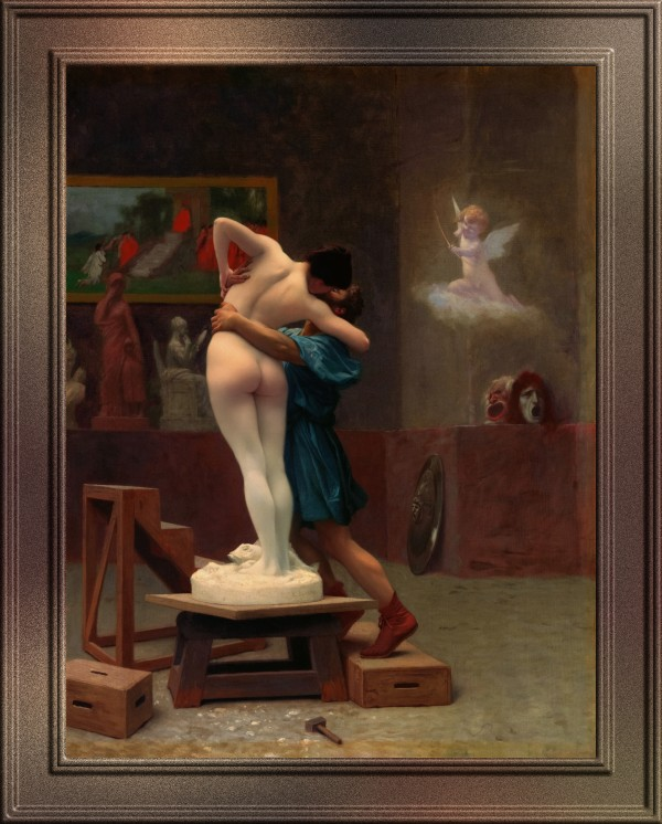 Pygmalion and Galatea by Jean-Leon Gerome Classical Art Old Masters Reproduction by xzendor7
