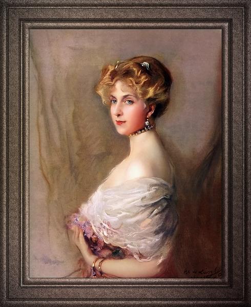 Queen Victoria Eugenia by Philip de Laszlo Classical Fine Art Xzendor7 Old Masters Reproductions by xzendor7