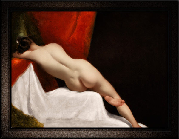 Reclining Female Nude by William Etty Classical Fine Art Xzendor7 Old Masters Reproductions by xzendor7