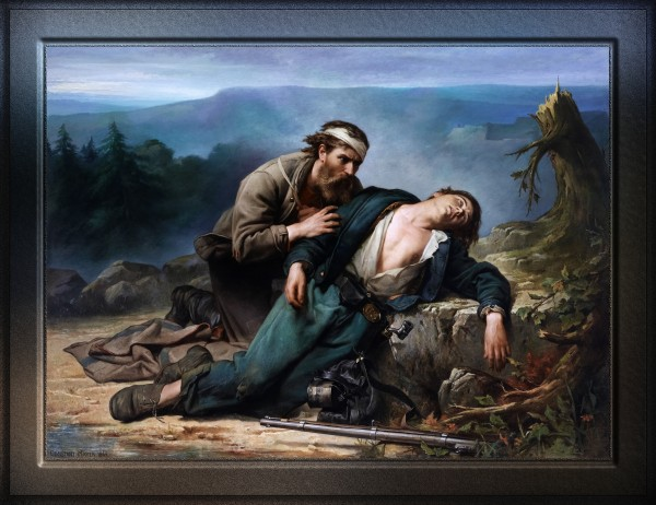 Recognition North and South by Constant Mayer Classical Fine Art Old Masters Reproduction by xzendor7