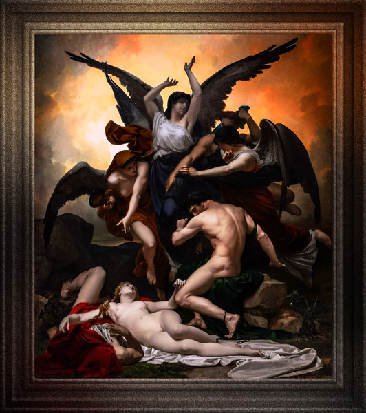 Remorse by Louis-Marie Baader Classical Art Xzendor7 Old Masters Reproductions by xzendor7