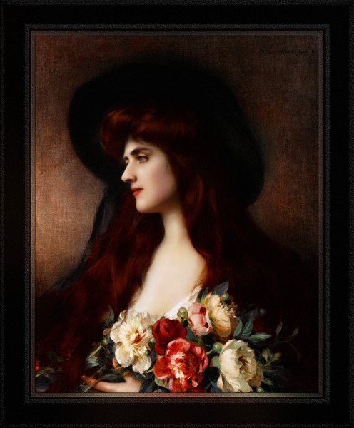 Reverie Daydream by Albert Lynch Classical Fine Art Xzendor7 Old Masters Reproductions by xzendor7