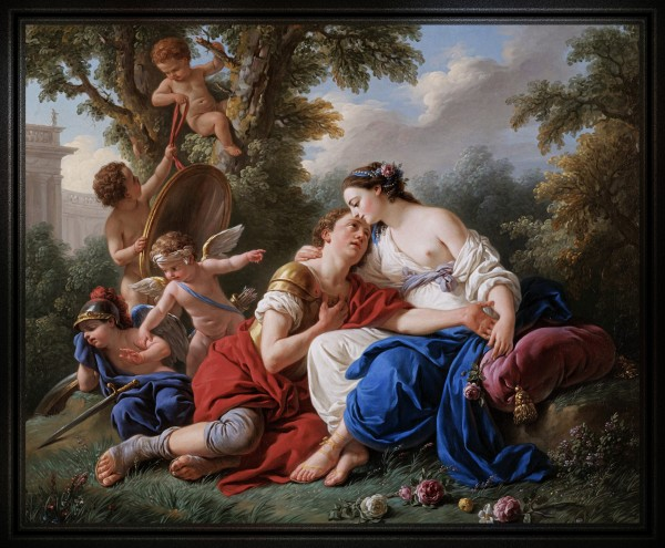 Rinaldo and Armida by Jean Francois Lagrenee Old Masters Reproduction by xzendor7