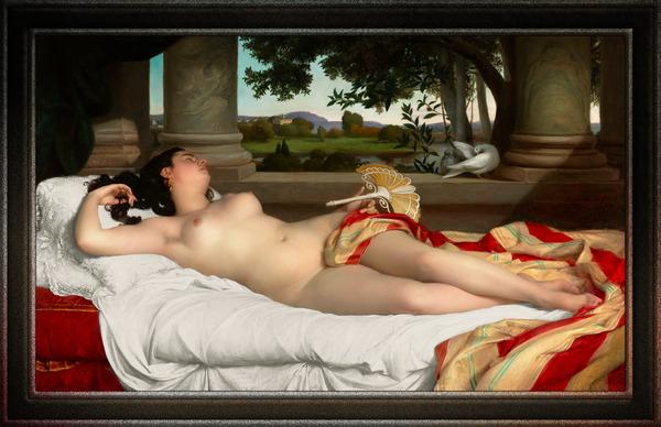 Romaine Endormie by Felix-Auguste Clement Classical Fine Art Xzendor7 Old Masters Reproductions by xzendor7