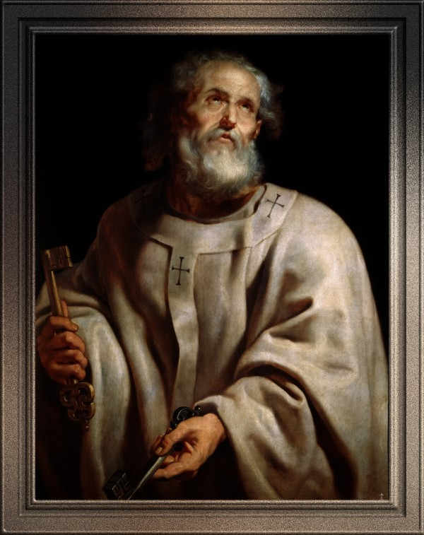 Saint Peter by Peter Paul Rubens Old Masters Classical Art Reproduction by xzendor7