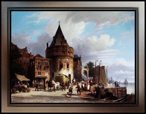Schreierstoren by Willem Koekkoek Fine Art Old Masters Reproduction by xzendor7