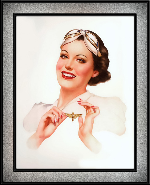 She Got Her Wings by Alberto Vargas Vintage Pin-Up Girl Art by xzendor7