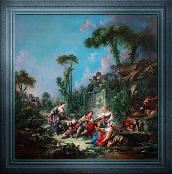 Shepherds Idyll by Francois Boucher Fine Art Old Masters Reproduction by xzendor7