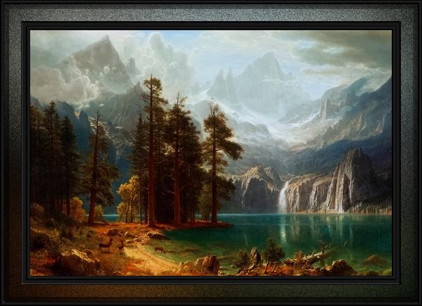 Sierra Nevada by Albert Bierstadt Old Masters Fine Art Reproduction by xzendor7