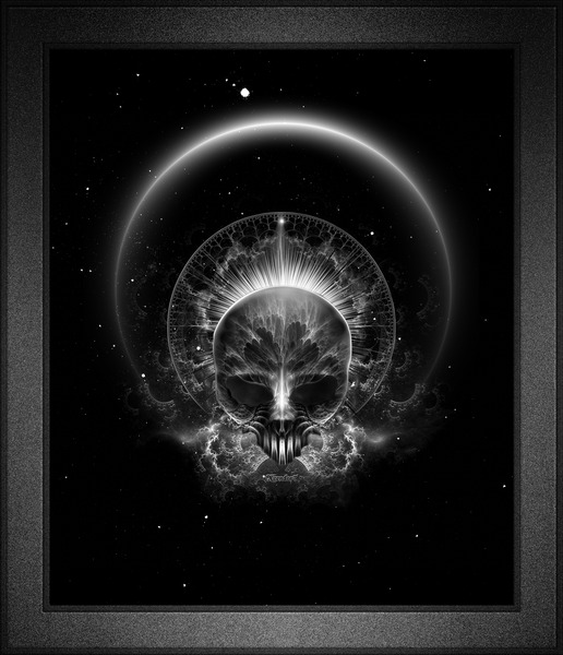Gothic Skull Blaze Abstract Digital Art Composition by xzendor7