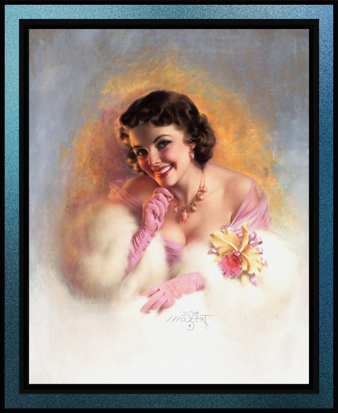 Sophisticated Glamour by Zoe Mozert Pin-Up Girl Vintage Artwork by xzendor7