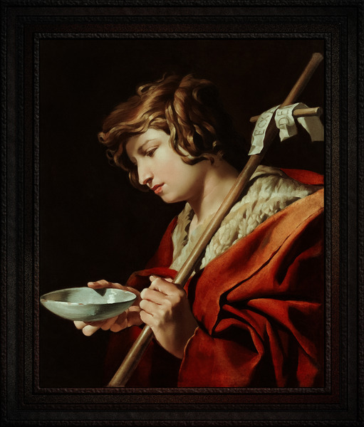 St John the Baptist by Matthias Stom Classical Xzendor7 Old Masters Reproductions by xzendor7