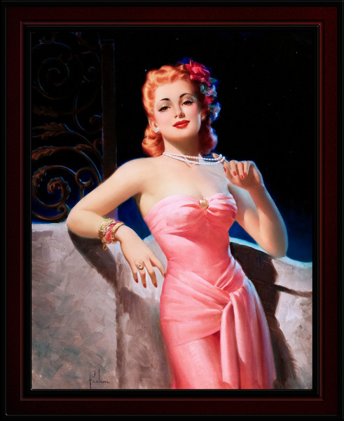 Sultry Evening Glamour by Art Frahm Pin-Up Girl Vintage Art by xzendor7