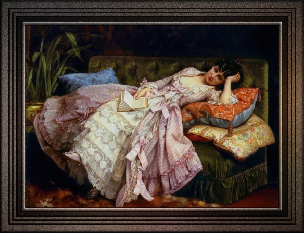Sweet Doing Nothing by Auguste Toulmouche Old Master Reproduction by xzendor7