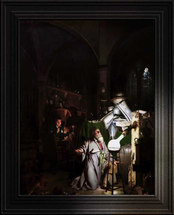 The Alchemist Discovering Phosphorus by Joseph Wright of Derby Fine Art Old Masters Reproduction by xzendor7