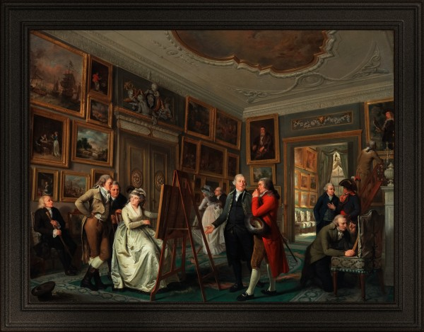 The Art Gallery of Jan Gildemeester Jansz by Adriaan de Lelie Classical Art Old Masters Reproduction by xzendor7
