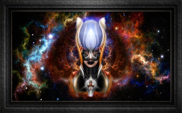 The Arzookian Princess Of Nebulous Four Fractal Art Portrait by xzendor7