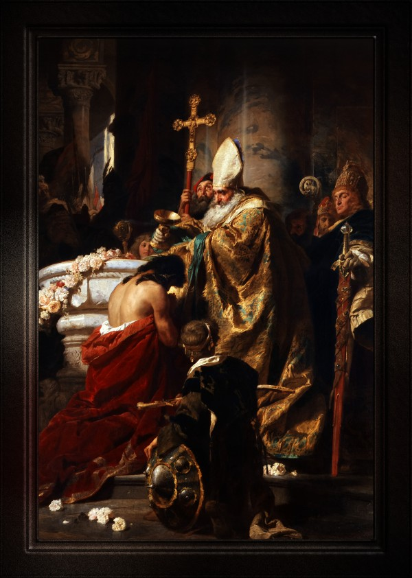 The Baptism of Vajk by Gyula Benczur Old Masters Classical Fine Art Reproduction by xzendor7