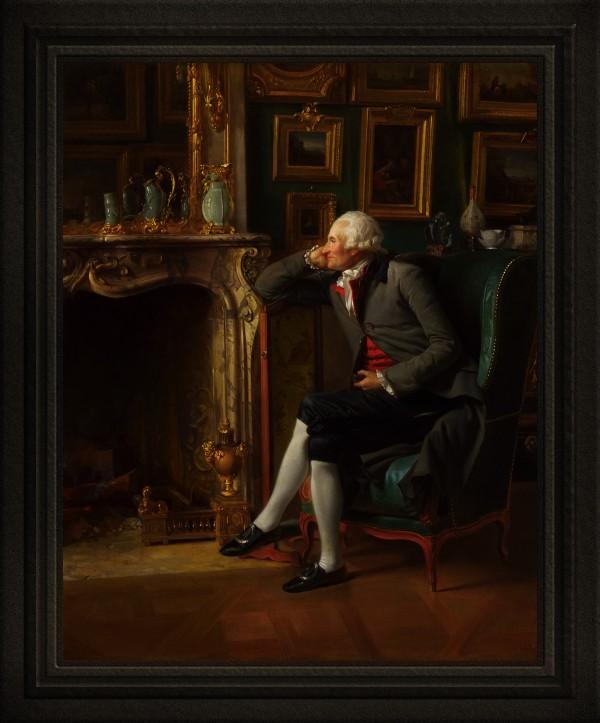 The Baron de Besenval in his Salon de Compagnie by Henri-Pierre Danloux Old Masters Classical Art Reproduction by xzendor7