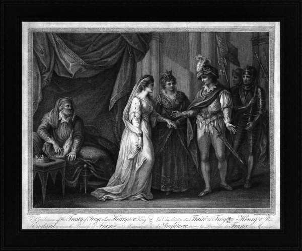 The Conclusion of the Treaty of Troyes by Francesco Bartolozz Classical Art Old Masters Reproduction by xzendor7