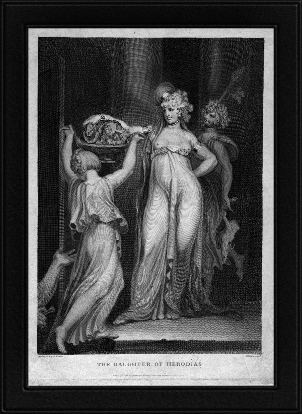 The Daughter of Herodias Salome Receiving the Head of John the Baptist by Engraver Thomas Holloway Old Masters Classical Fine Art Reproduction by xzendor7