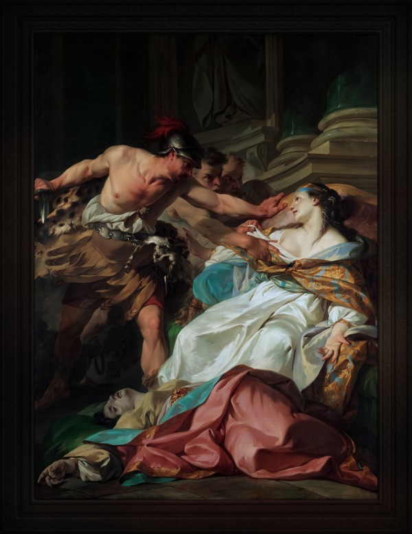 The Death of Harmonia by Jean-Baptiste Marie Pierre Old Masters Classical Art Reproduction by xzendor7