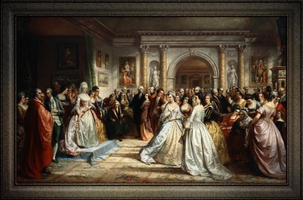 Lady Washingtons Reception Day by Daniel Huntington Fine Art Old Masters Reproduction by xzendor7