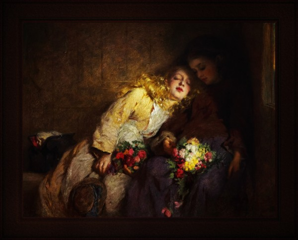 The Return Home by George Elgar Hicks Fine Art Old Masters Reproduction by xzendor7