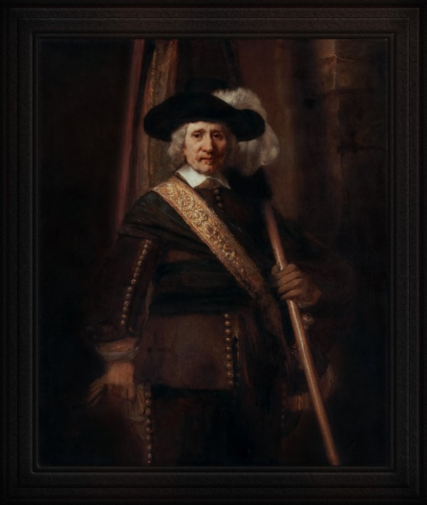 The Standard Bearer by Rembrandt van Rijn Classical Fine Art Old Masters Reproduction by xzendor7