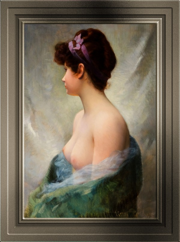 The Topless Model by Albert Joseph Penot Old Masters Classical Art Reproduction by xzendor7