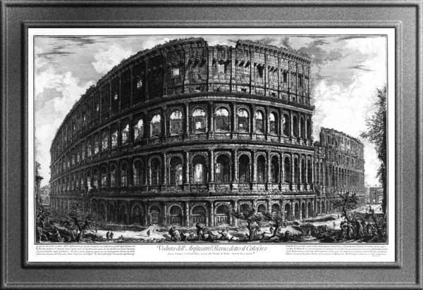 The Colosseum by Giovanni Battista Piranesi Old Masters Classical Fine Art Reproduction by xzendor7