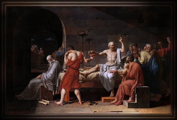 The Death of Socrates by Jacques Louis David Old Masters Classical Art Reproduction by xzendor7
