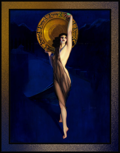 The Enchantress Art Deco Pin-up by Rolf Armstrong Pin-Up Girl Vintage Art by xzendor7