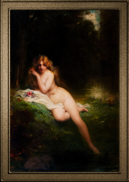 The Grove of the Queen by Adrien Henri Tanoux Old Masters Reproduction by xzendor7