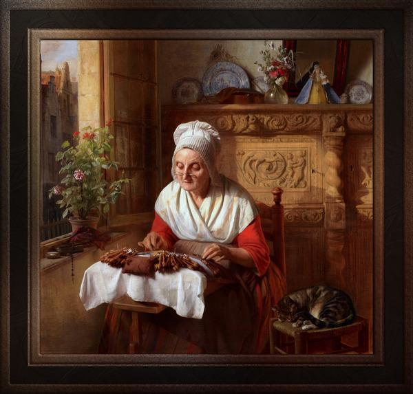 The Lace Maker by Josephus Laurentius Dyckmans Classical Fine Art Xzendor7 Old Masters Reproductions by xzendor7