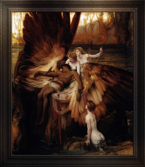 The Lament for Icarus by Herbert James Draper Classical Art Old Masters Reproduction by xzendor7