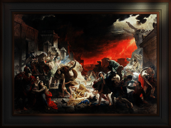 The Last Day of Pompeii by Karl Bryullov Classical Fine Art Xzendor7 Old Masters Reproductions by xzendor7