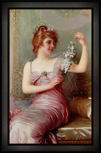 The Play Thing by Vittorio Matteo Corcos Classical Art Old Masters Reproduction by xzendor7