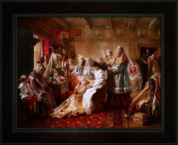The Russian Brides Attire by Konstantin Makovsky Classical Fine Art Xzendor7 Old Masters Reproductions by xzendor7