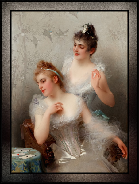 The Three Aces by Vittorio Matteo Corcos Classical Art Reproduction by xzendor7