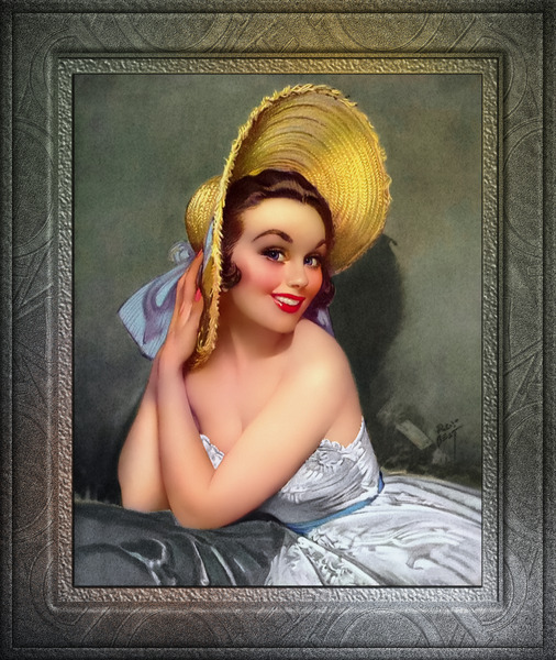 The Yellow Bonnet by Roy Best Vintage Xzendor7 Old Masters Reproductions by xzendor7