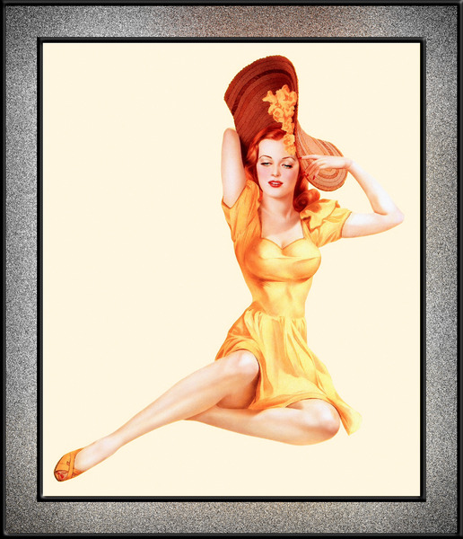 The Yellow Dress by Alberto Vargas Pin-Up Girl Vintage Artwork by xzendor7