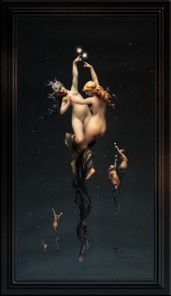 Twin Stars by Luis Ricardo Falero Classical Fine Art Xzendor7 Old Masters Reproductions by xzendor7