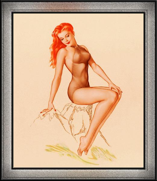 Varga Girl 1946 Pin-up Art  by Alberto Vargas Pin-Up Girl Vintage Artwork by xzendor7