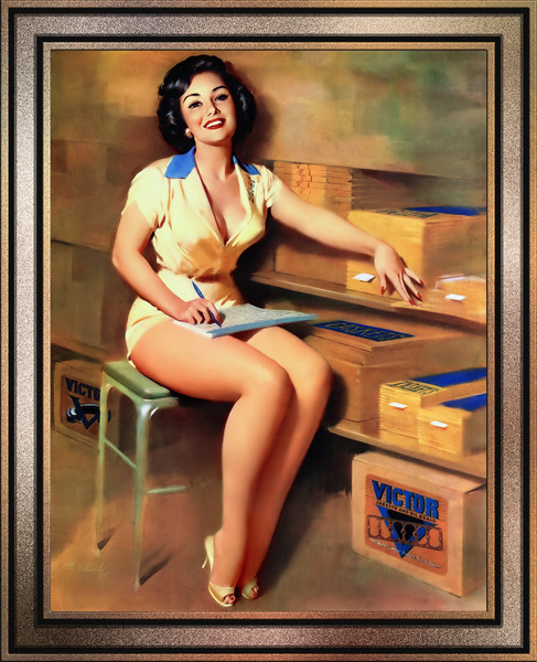 Victor Gaskets Pin-up Girl by Bill Medcalf Pin-Up Girl Vintage Artwork by xzendor7