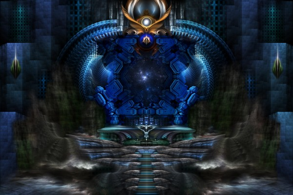 View To Eternity Fractal Art Composition by xzendor7