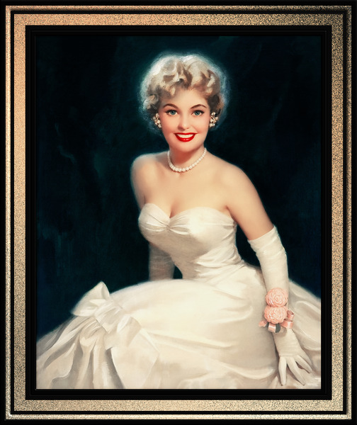 Wedding Day by Walt Otto Pin-Up Girl Vintage Art by xzendor7